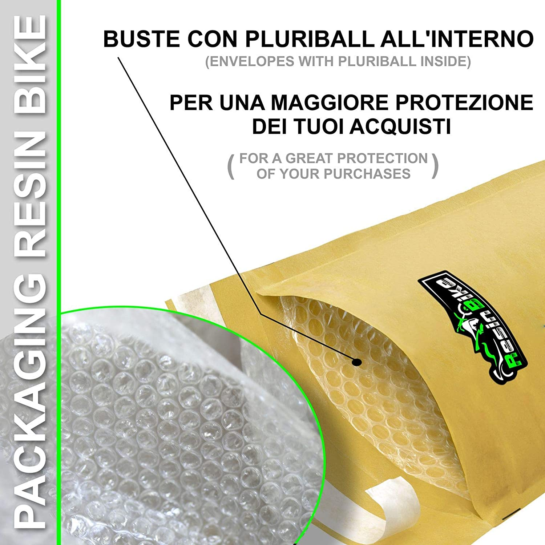 Adhesivos Resina Protecci/ón Frontal para Xmax 400 2013-16 Carbono Rojo