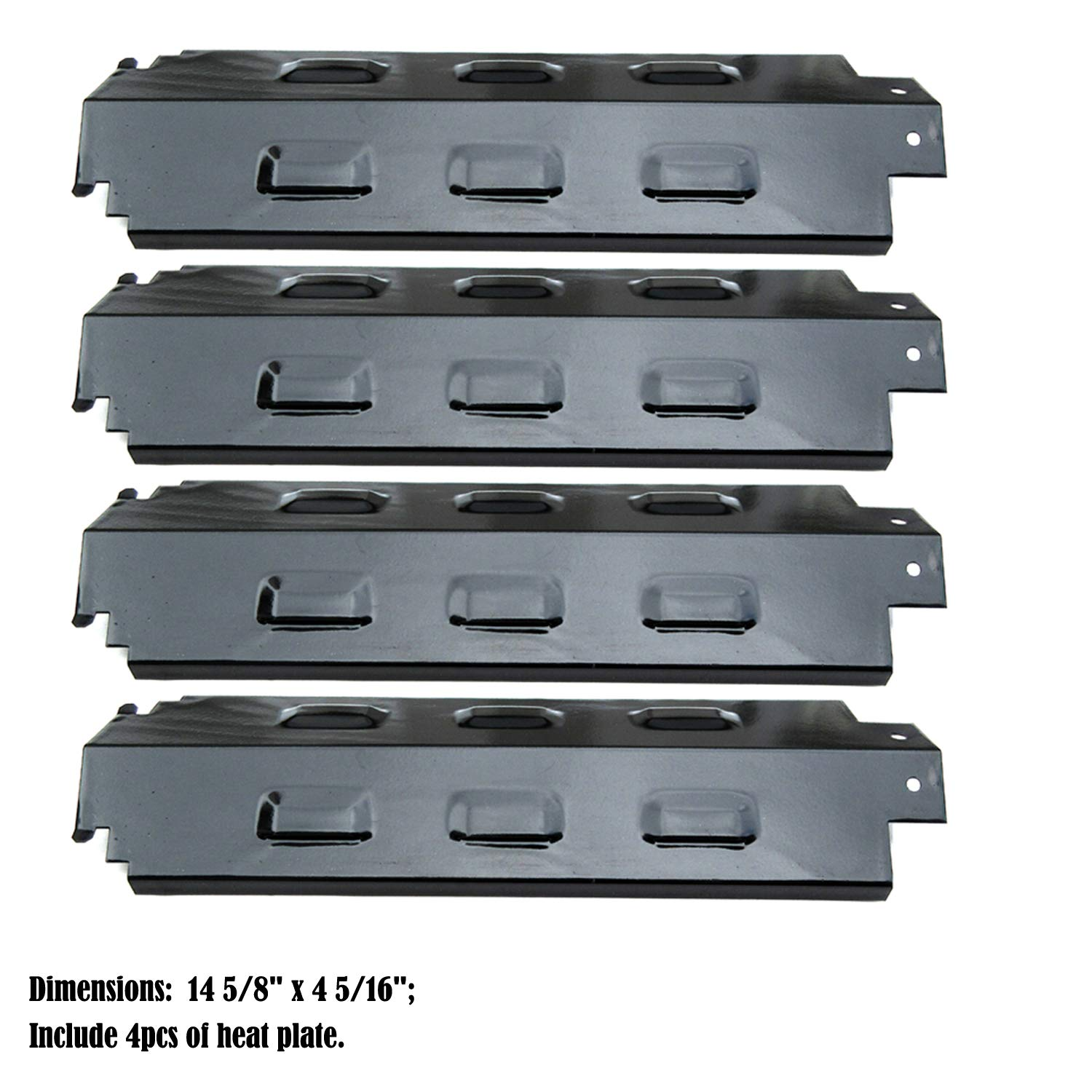 Direct store Parts DP133 (4-pack) Porcelain Steel Heat Shield/Heat Plates Replacement Charbroil, Kenmore, Gas Grill Models (Porcelain Steel)