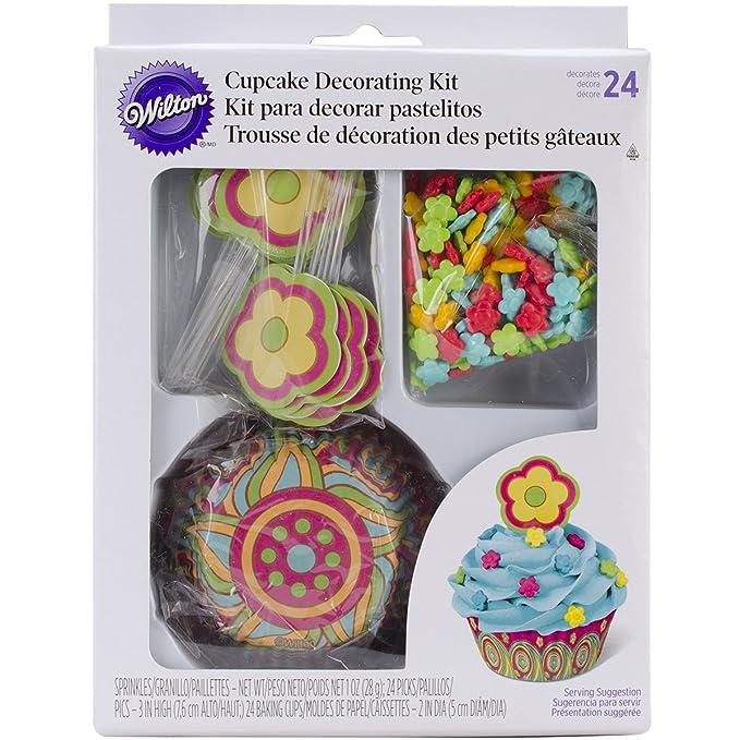 Amazon.com: Wilton 415-8039 Flower Cupcake Decorating Kit: Dessert Decorating Cake Toppers: Kitchen & Dining