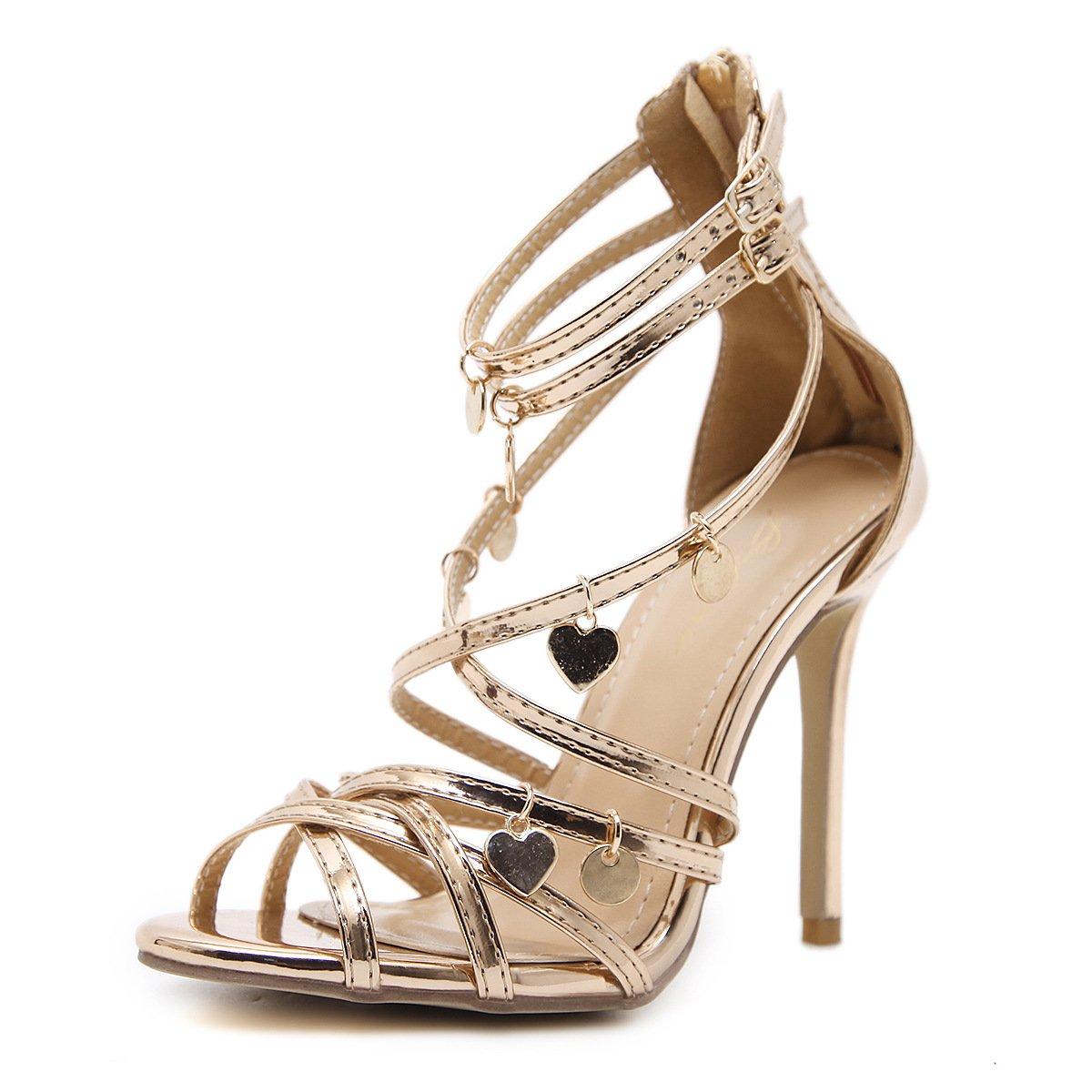 ZHZNVX Frühling und Sommer Sandalen ultra-hohe Schuhe mit Rom.