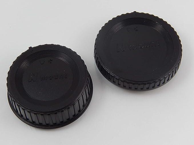 vhbw Tapa Negra para cámaras Nikon D3100, D3200, D3300 ...