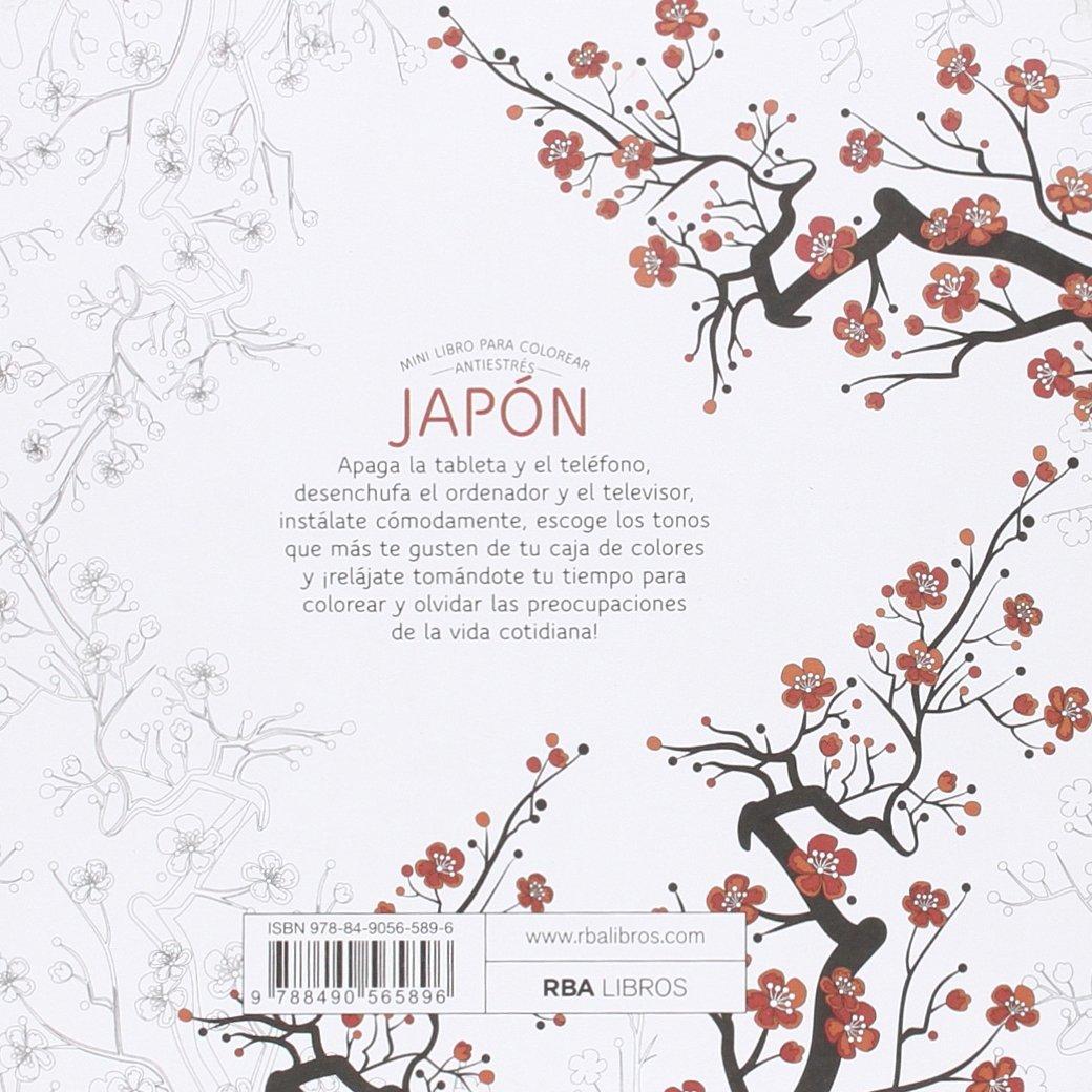 JAPÓN: Mini libro antiestrés para colorear (PRACTICA): Amazon.es ...