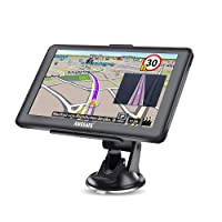 awesafe Sat Nav 7 Inch Capacitive Touch Screen Car GPS Navigation System with Lifetime UK European Map Updates