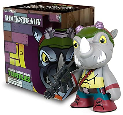 Amazon.com: Figura de Rocksteady: TMNT X Kidrobot ~ 7 ...