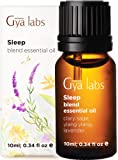 Gya Labs Sleep Essential Oil Blend - Lavender & Ylang Ylang for Good Night Sleep & Stress Relief (10ml) - 100% Pure Therapeutic Grade Aromatherapy Essential Oils Blends for Good Sleep & Diffuser