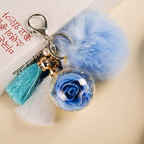 Eternal Flowers Perfect Clothing and Bag Accessories Gift with for Valentines Day Anniversary NW 1776 Hand-made Flowers Never Fade Plush Ball Birthday ,Christmas