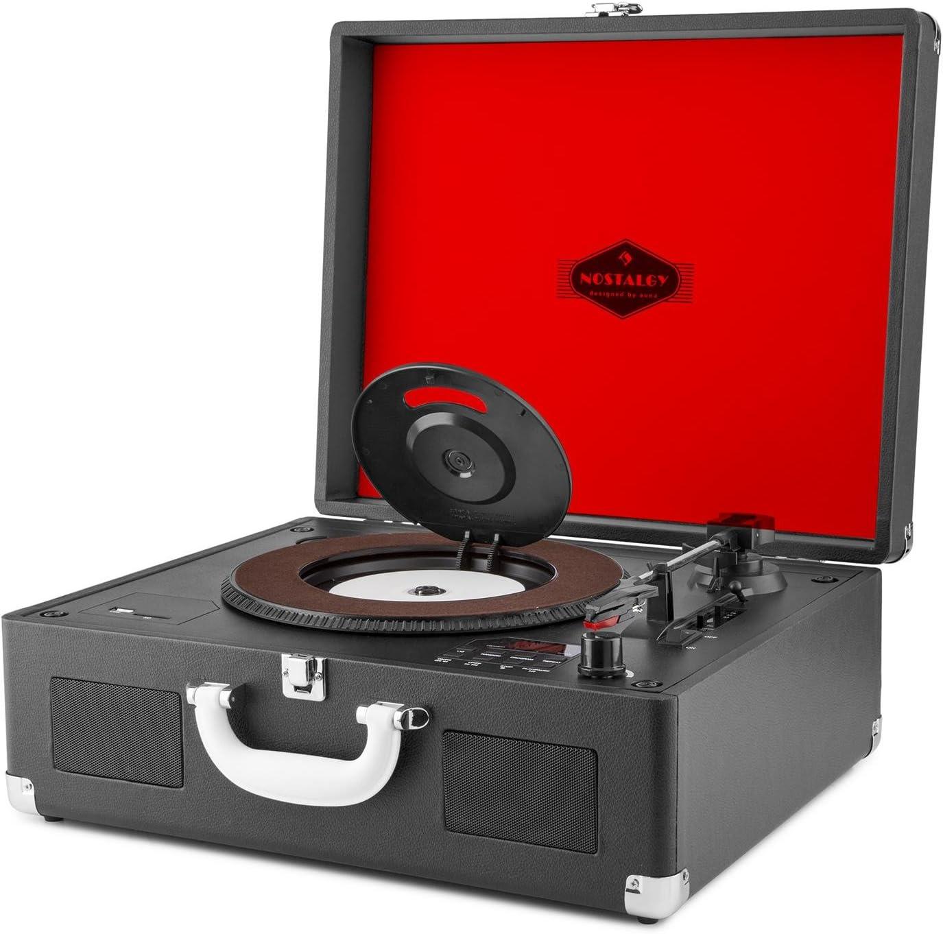 auna Peggy Sue CD - Tocadiscos Retro , Negro: Amazon.es: Electrónica