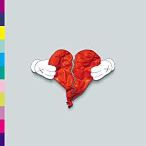Youngpin Kanye West 808s Heartbreak Art Poster Print,Unframed 20x20 Inches