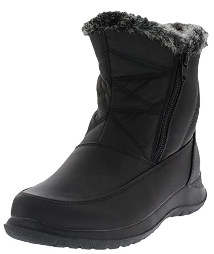 Womens Slopes Dual Zipper Ankle-High Winter Snow Boot