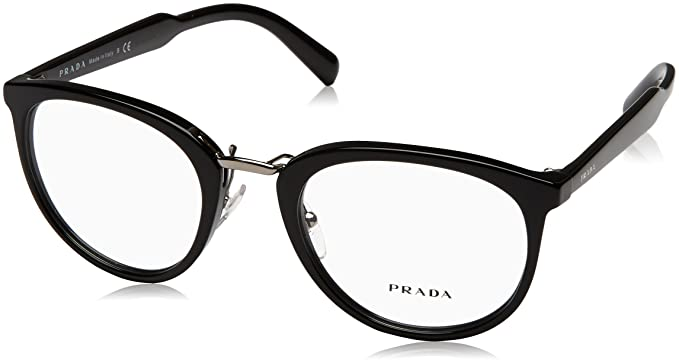 ca92de0e110b Amazon.com  Prada PR03TV Eyeglass Frames 1AB1O1-52 - Black PR03TV ...