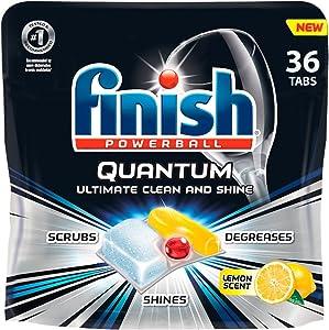 Finish - Quantum - 36ct - Dishwasher Detergent - Powerball - Ultimate Clean & Shine - Dishwashing Tablets - Dish Tabs