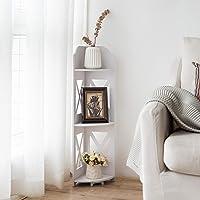 Deals on TuoxinEM Catty Corner Shelf for Living Room