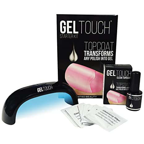 Kit de iniciación Gel Touch con lámpara LED y esmalte de capa superior de 8 ml