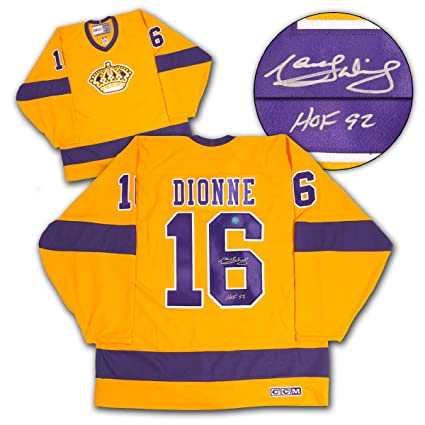quality design 73606 d0a25 Marcel Dionne Los Angeles Kings Autographed Yellow Retro CCM ...