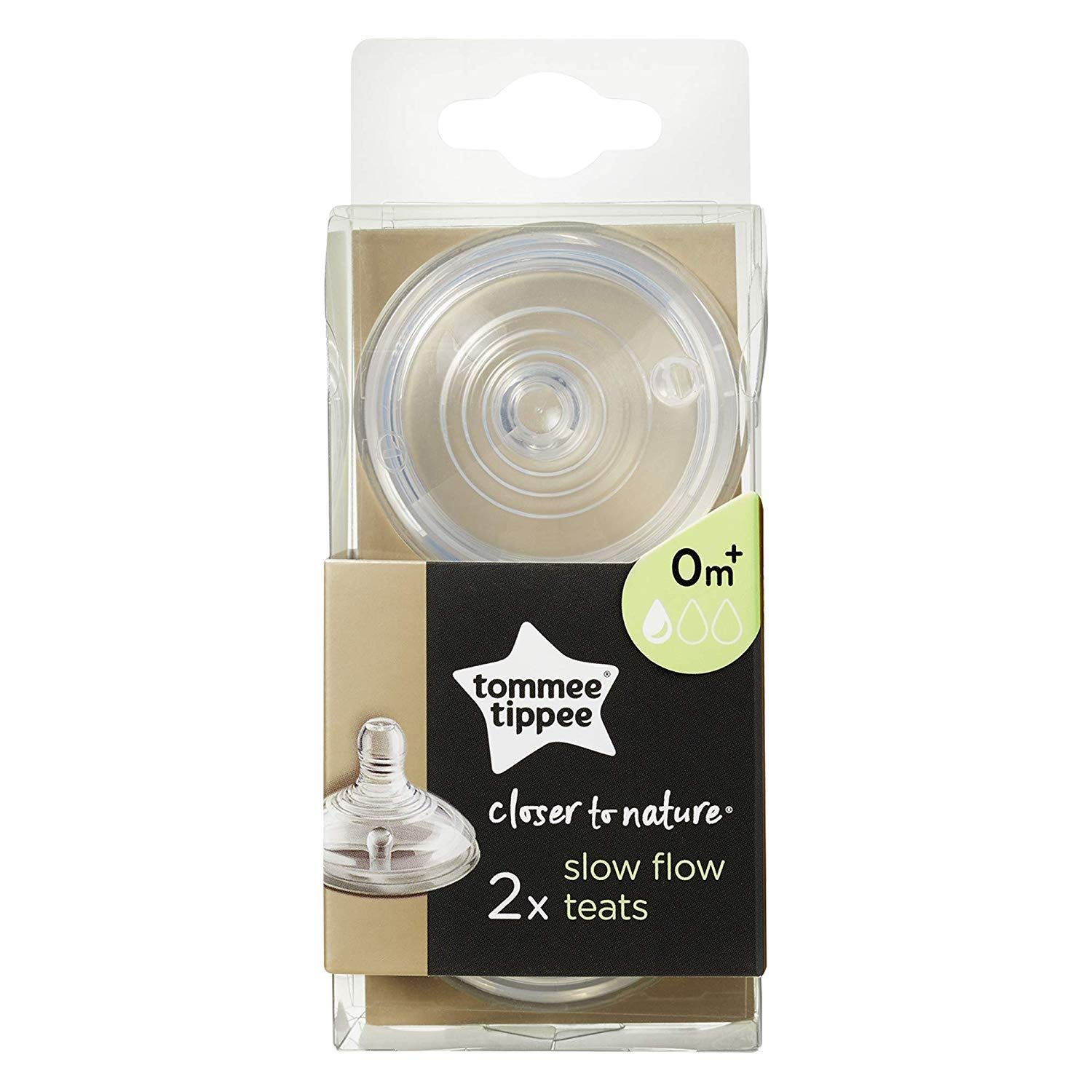 Suitable from Birth + Pack of 2 . 4 6/Baby Bottle Teat Slow Flow Teats Tommee Tippee