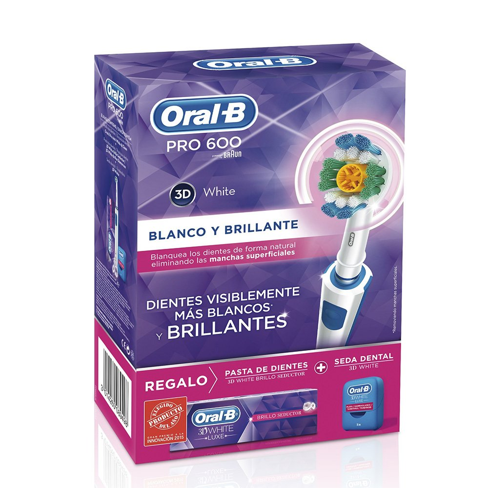 Braun - Cepillo dental oral-b pack pro 600 white&clean: Amazon.es: Salud y cuidado personal