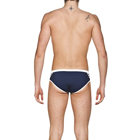 da812e5123 Arena Men Swim Briefs Team Stripe Trunks, Navy-White, 30: Amazon.co.uk:  Sports & Outdoors