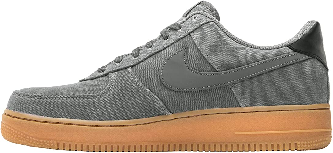 Nike Mens Air Force 1 07 LV8 Canvas Flat Pewter Gum Trainers 8.5 US