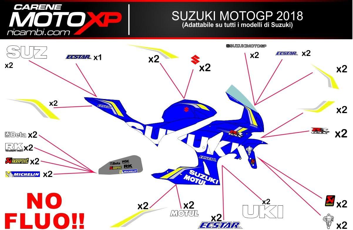 Pegatinas Adhesivos Motos Racing Suzuki Gsxr 1000 2018 2017 MT18: Amazon.es: Coche y moto