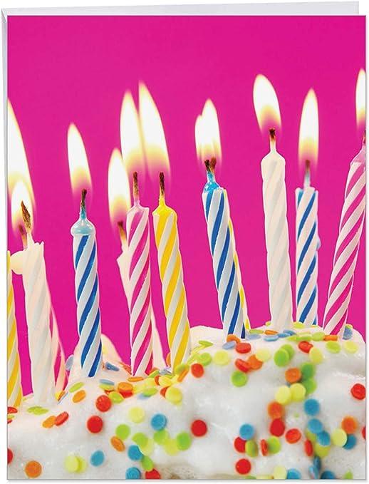 Amazon.com: Velas de cumpleaños tarjeta de felicitación de ...