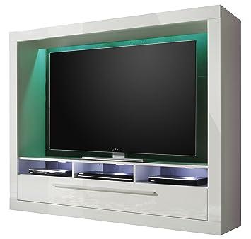 Fernseher Möbel trendteam mx89501 wohnwand tv möbel weiss hochglanz bxhxt