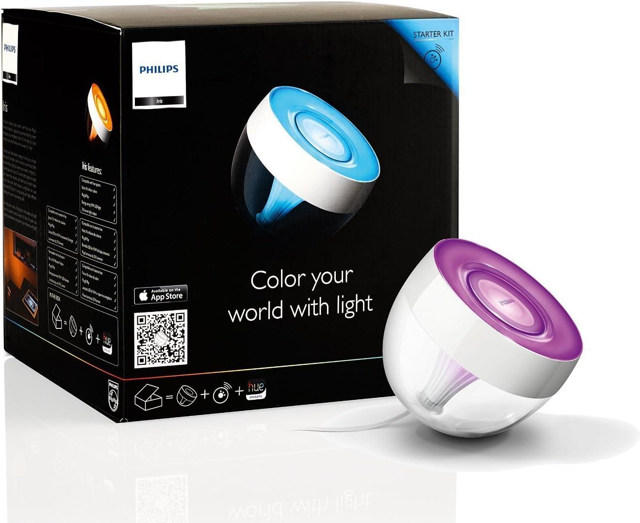 Philips Hue Iris Lámpara de Mesa Inteligente LED, Luz Blanca y de ...