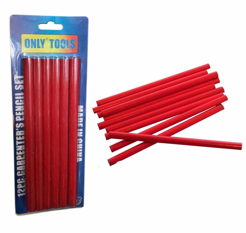 New 12pc Carpenter Pencil Soft Lead Builders Carpenters Carpentry Marking Wood