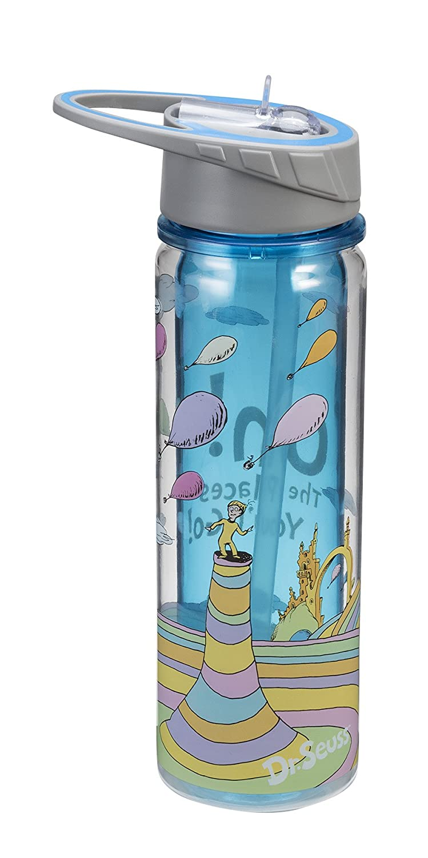 Tritan Water Bottle 17075 Vandor Accessory Consumer Accessories Seuss Oh the Places 18 Oz Dr