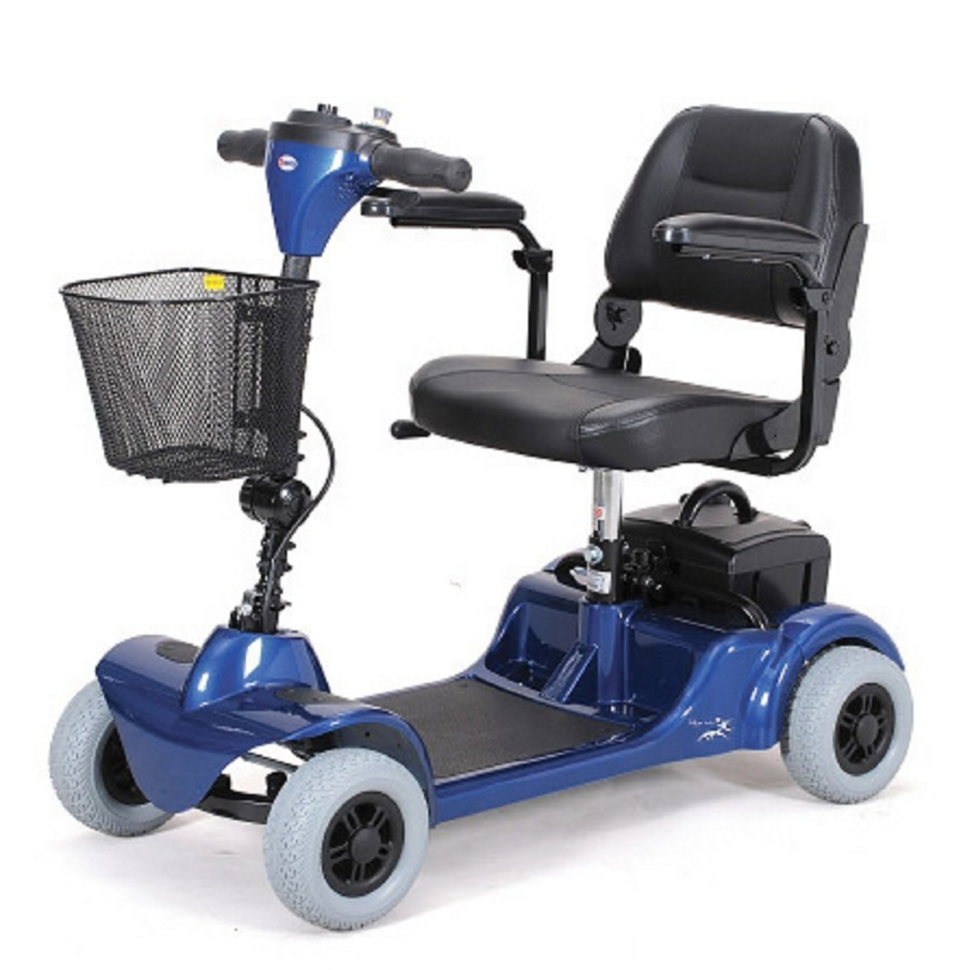 Merits Health Products - Mini Coupe - 4-Wheel Super Micro Electric Scooter - 16.5''W x 15.5''D - Blue