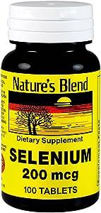 Nature's Blend Selenium 200 mcg 100 Tablets