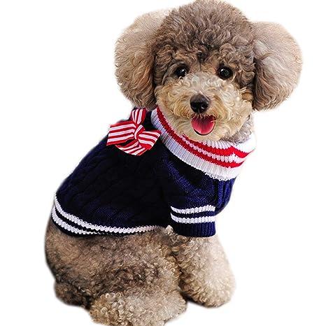 Liboom Ropa para Mascotas Precioso Lindo Suéter para Cachorros Gato Invierno Ropa de Abrigo Chaqueta Abrigo