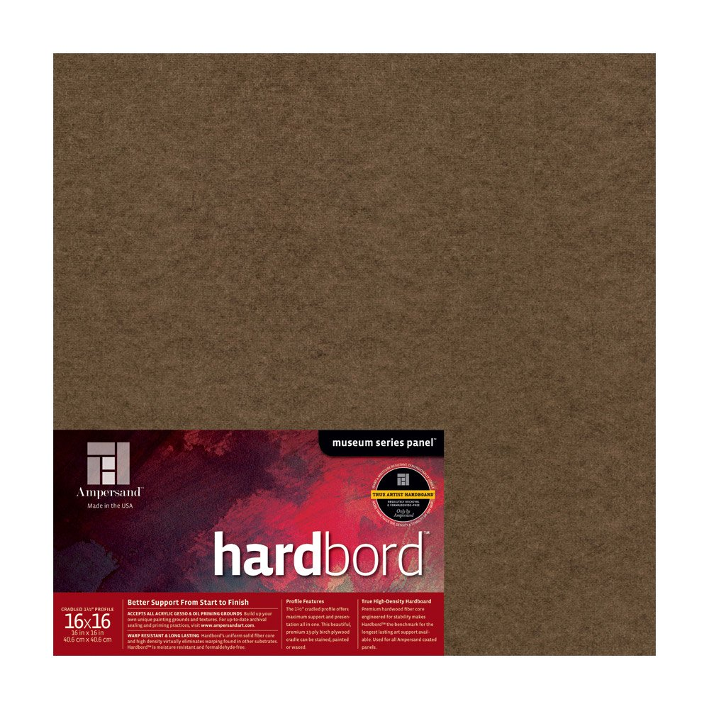 AMHBC09 9X12 Inch Ampersand Museum Series Hardbord for Painting and Mounting 3//4 Inch Depth Cradle