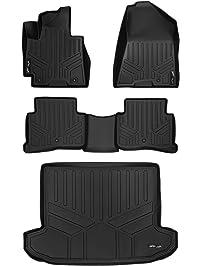 MAXLINER A0206/B0206/D0206 Floor Mats, 2 Row Set & Tray Cargo Liner for Hyundai Tucson, 2016-2017, Black
