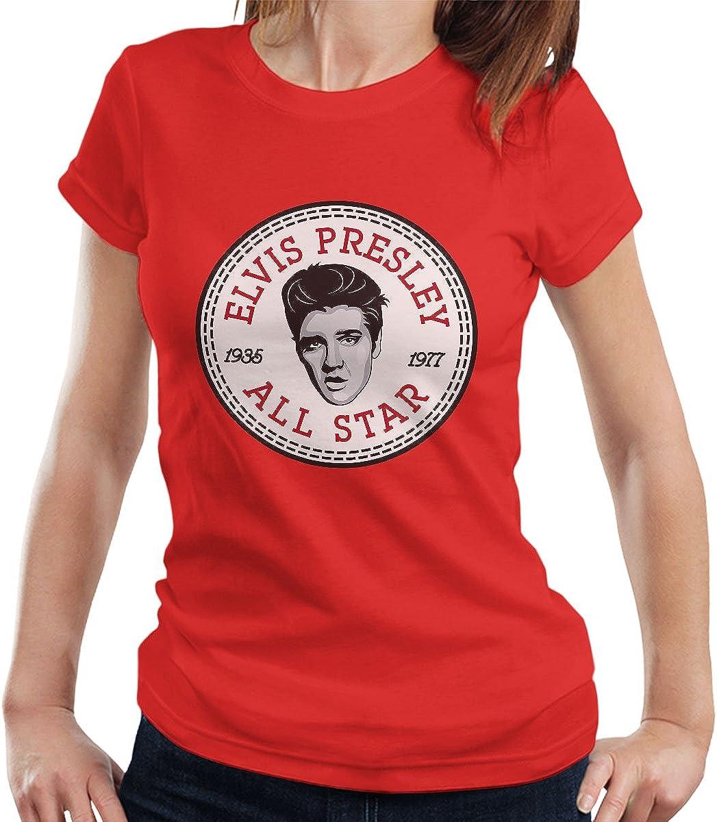Elvis Presley All Star Converse Logo Women's T Shirt: Amazon