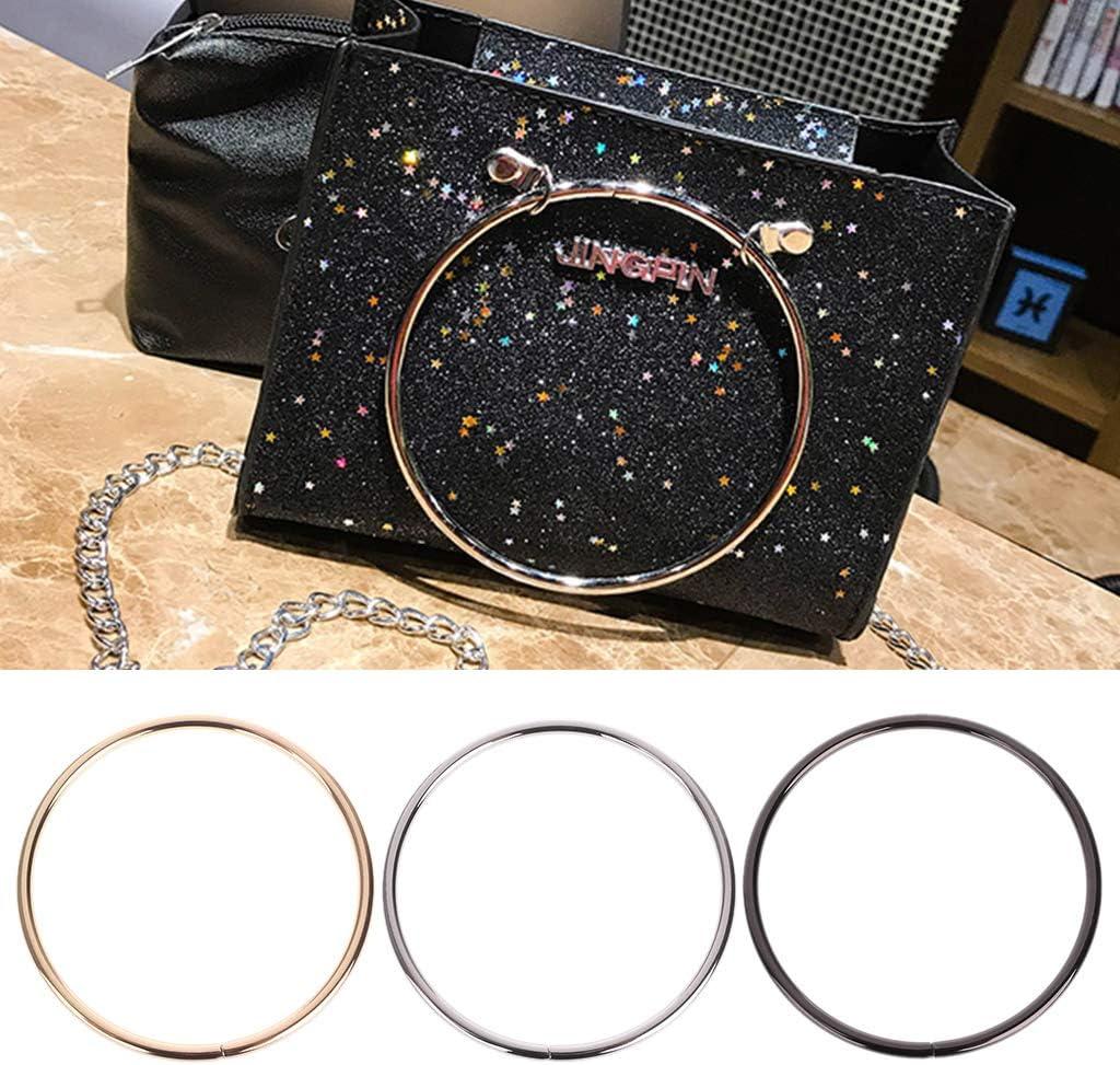 accessori di ricambio per borsa Youliy Maniglia rotonda in metallo fai da te Argento