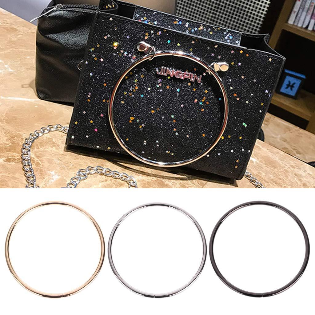 1PC Round Metal Replacement Top Handbags Handle Crossbody Bag Part Accessories