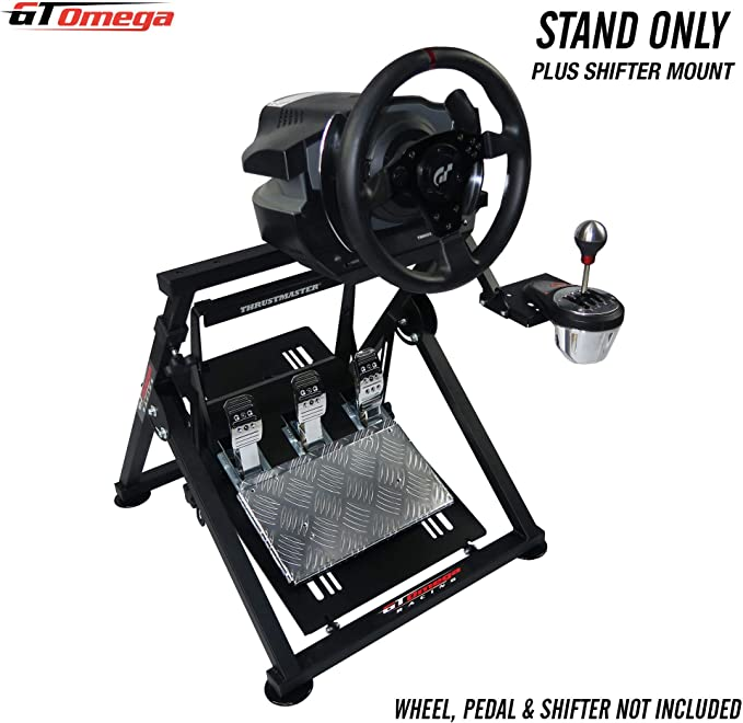 GT Omega Racing APEX Steering Wheel Stand for Thrustmaster T500/T300 Gaming Wheel - Pedals & TH8A Shifter Mount - Supporting Fanatec PS4 Xbox PC - Tilt-Adjustable to Ultimate Sim Racing Experience: Amazon.es: