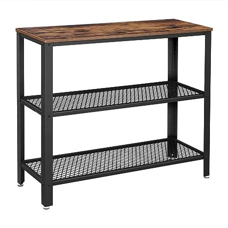 Amazon.com: Mesa de consola industrial VASAGLE, mesa de ...