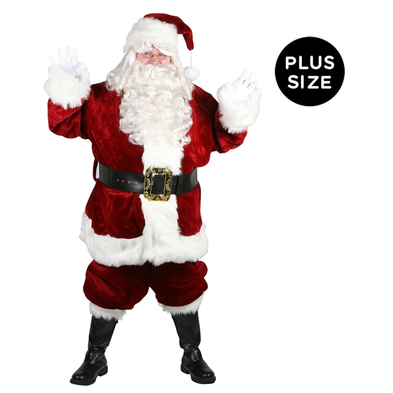 Adult santa claus suits and accessories deluxe