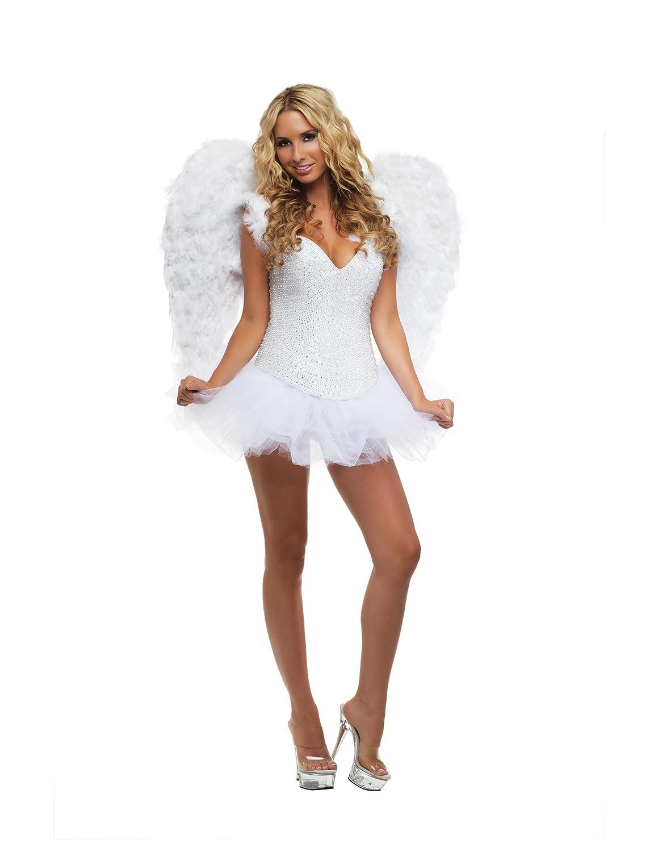 Amazon.com: Starline Signature White Sexy Angel Women's Costume ...
