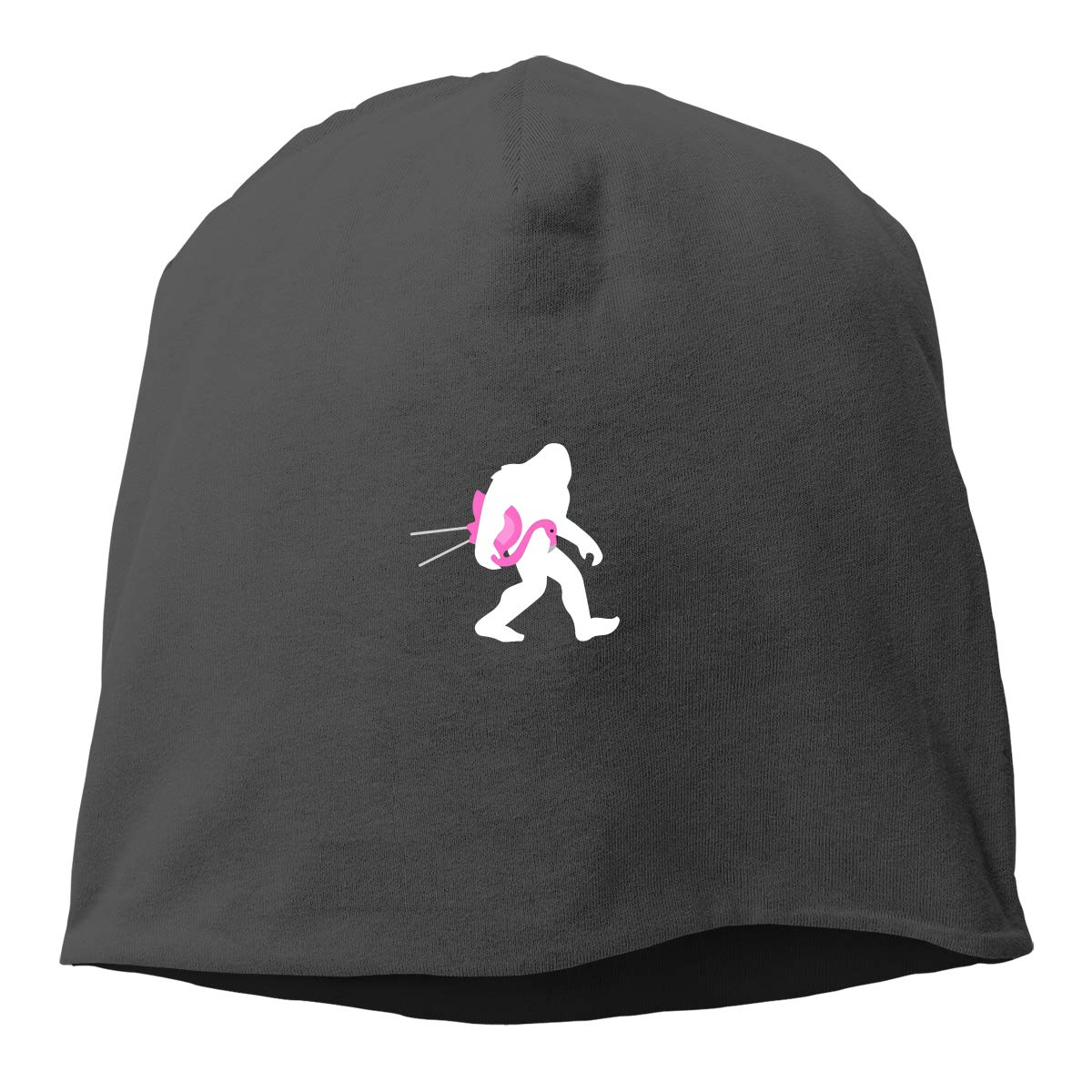 Bigfoot and Lawn Flamingo Fashion Knitted Hat Warm Soft Beanie Cap