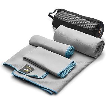OlimpiaFit Set of 3 Microfiber Quick Dry Swim Towels