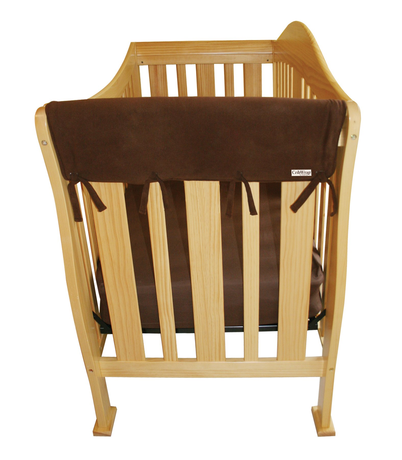 Trend Lab Fleece CribWrap Rail Covers For Crib Sides Set Of 2 Brown
