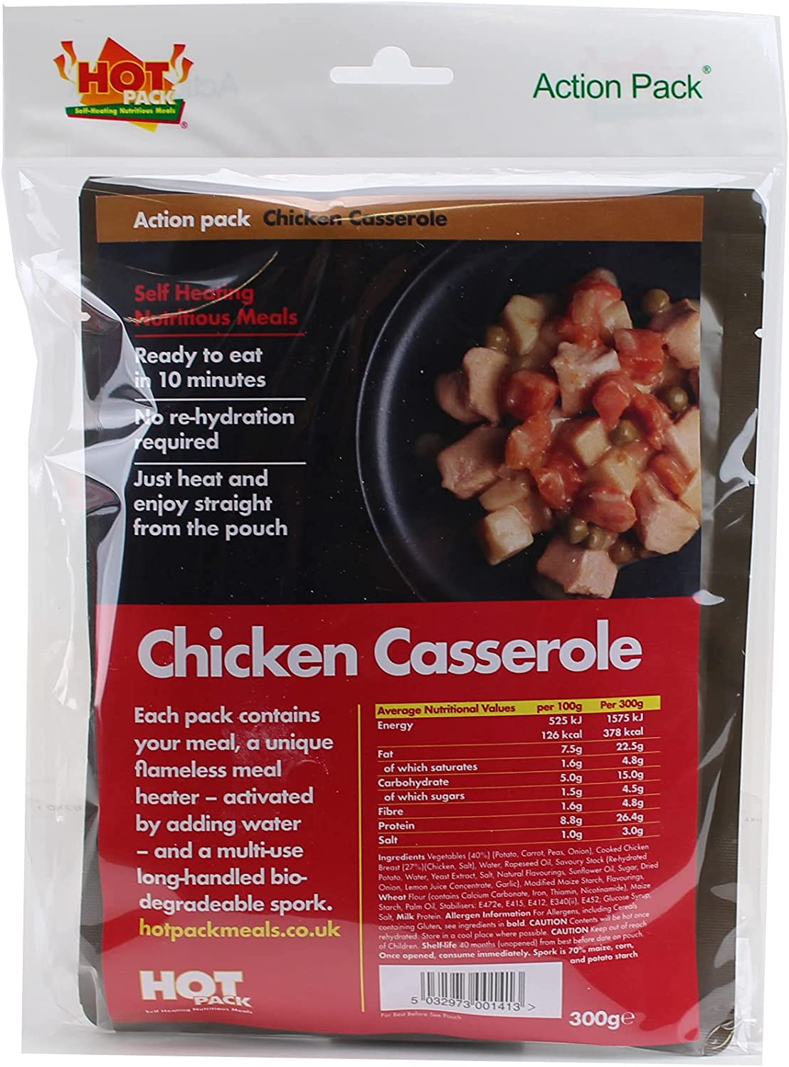 HOT PACK SELF HEATING MEAL IN A BOX CHICKEN CASSEROLE Pack of 12