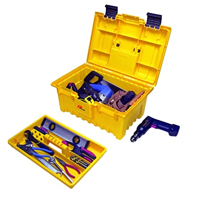 """Plano 771000 Power Tool Box with Lift-Out Tray, 19"""", Yellow - Toolboxes - .com"""