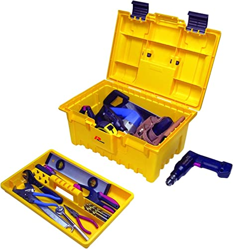 Plano 771000 Power Tool Box with Lift-Out Tray, 19 , Yellow