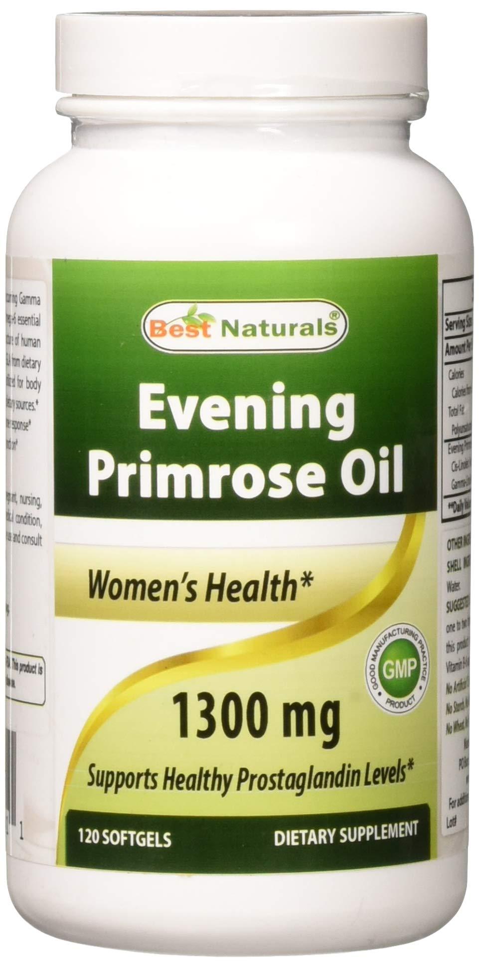 Best Naturals, Evening Primrose Oil Cold Pressed 1300 mg, 120 Softgels