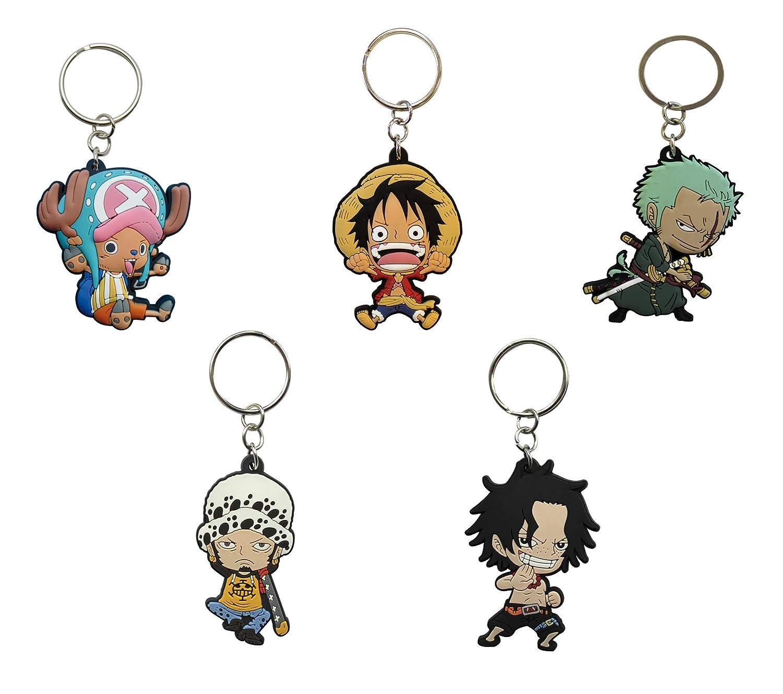 ABYstyle - One Piece - Juego de 5 Llaves de PVC (Luffy ...
