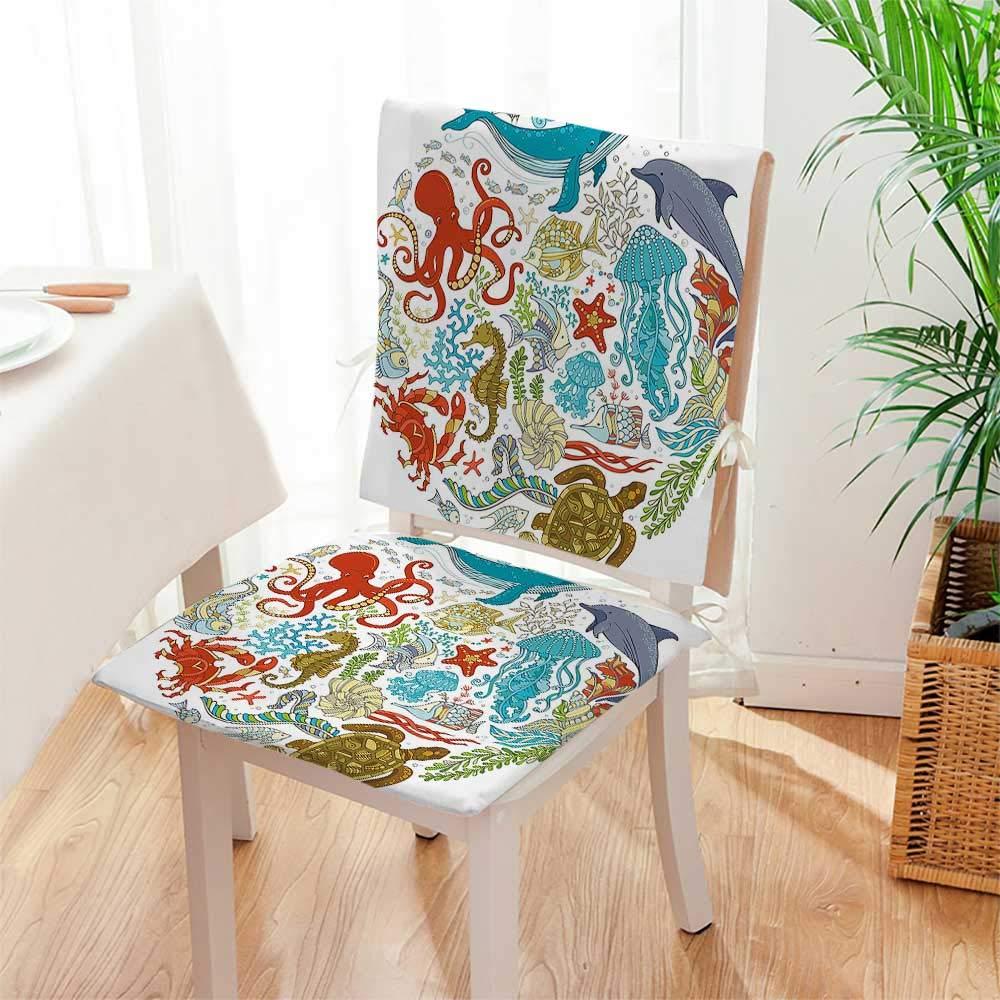 Amazon.com: Mikihome – Juego de 2 cojines para silla de ...