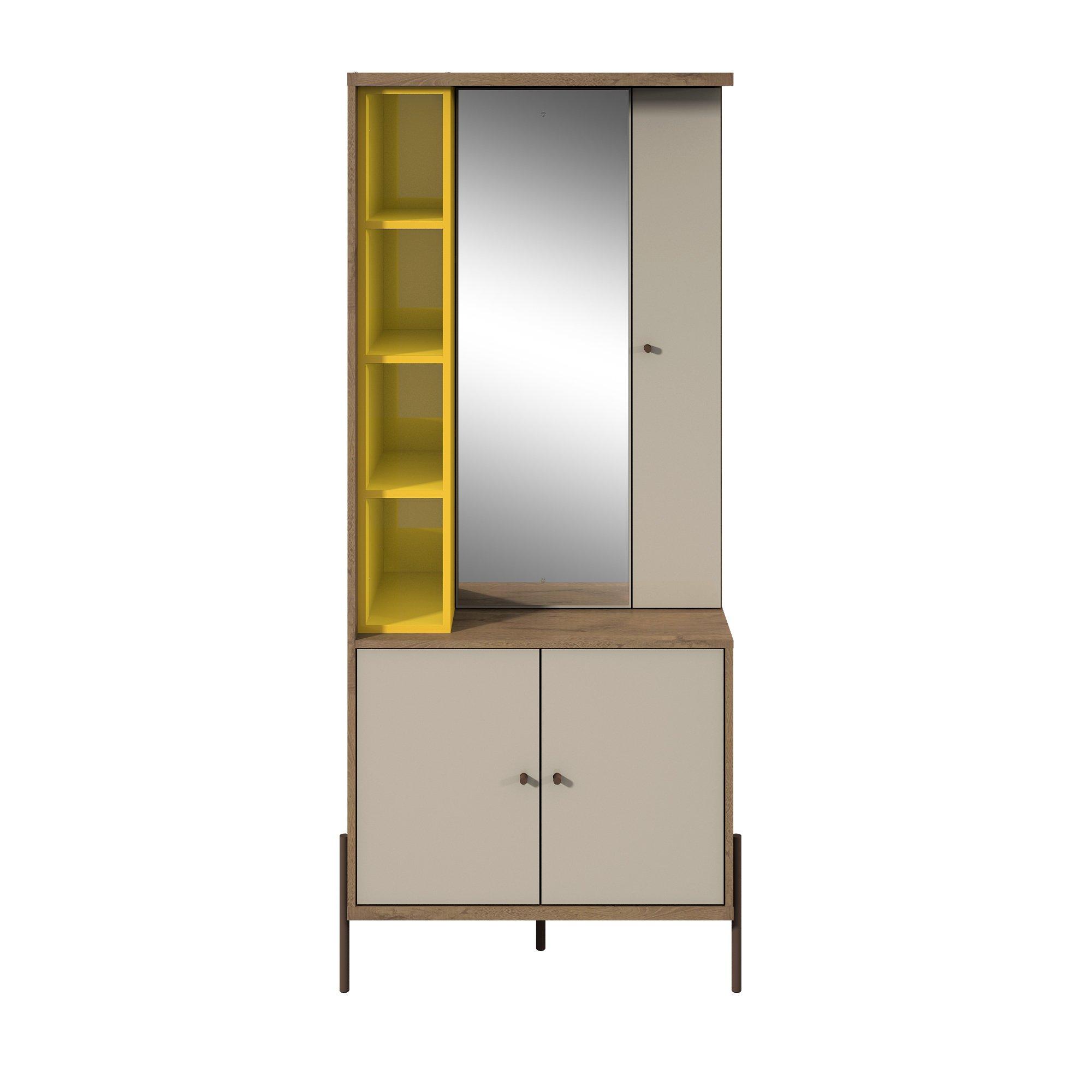 Manhattan Comfort Joy Series Bedroom Storage, Yellow/Off-White by Manhattan Comfort
